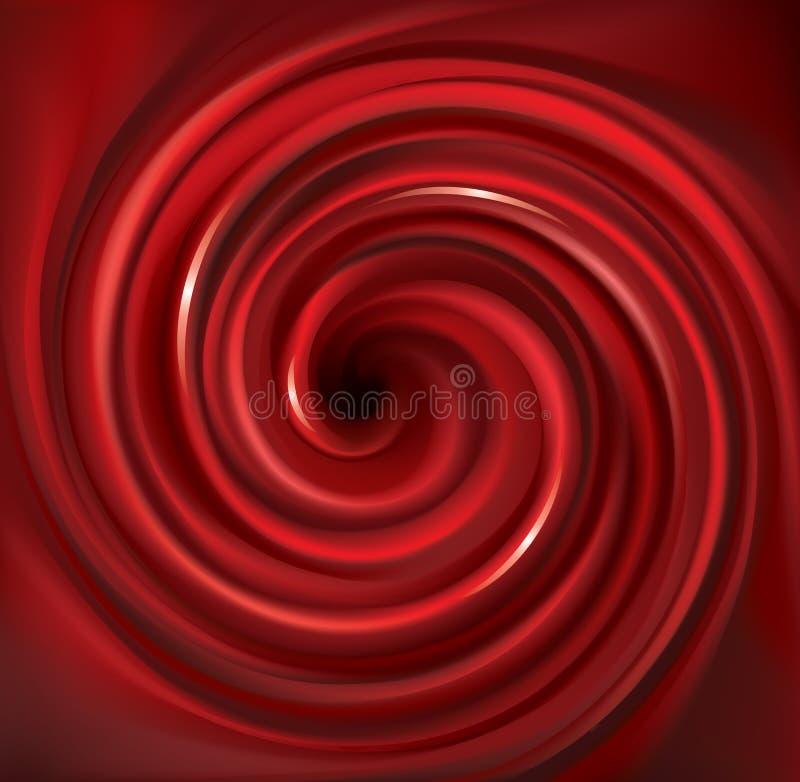 传染媒介打旋的红色背景 红色果子汁液  库存例证