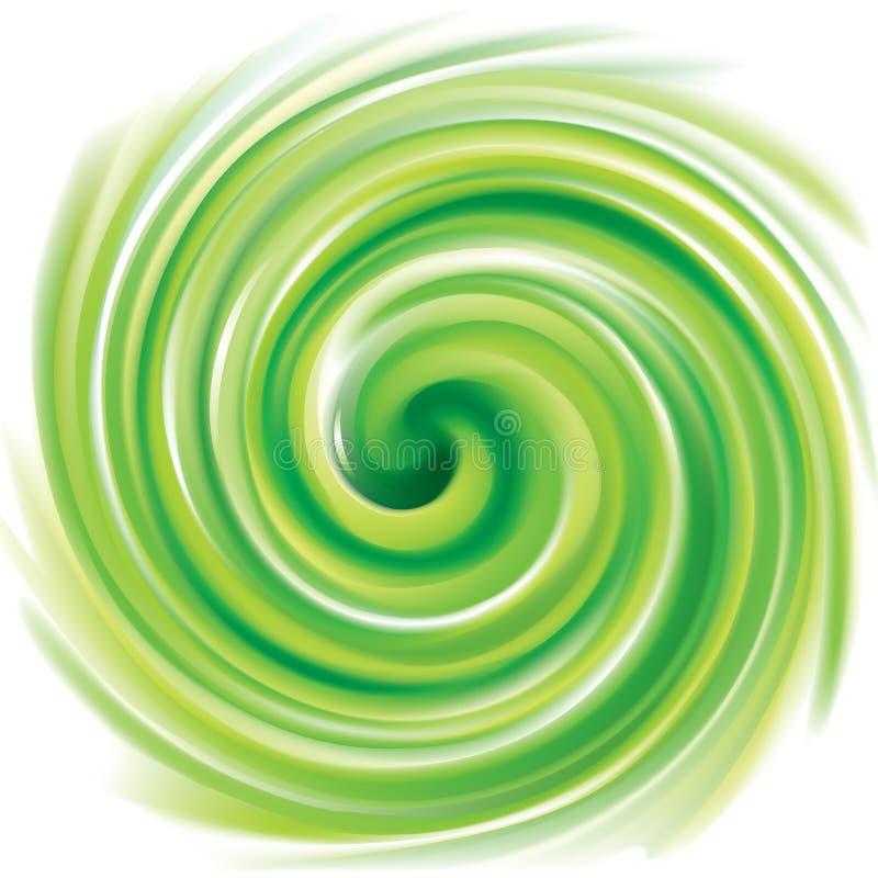 传染媒介打旋的背景浅绿色的颜色 向量例证