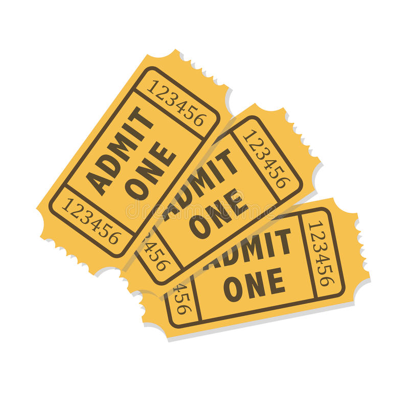 传染媒介承认被隔绝的一张票 库存例证