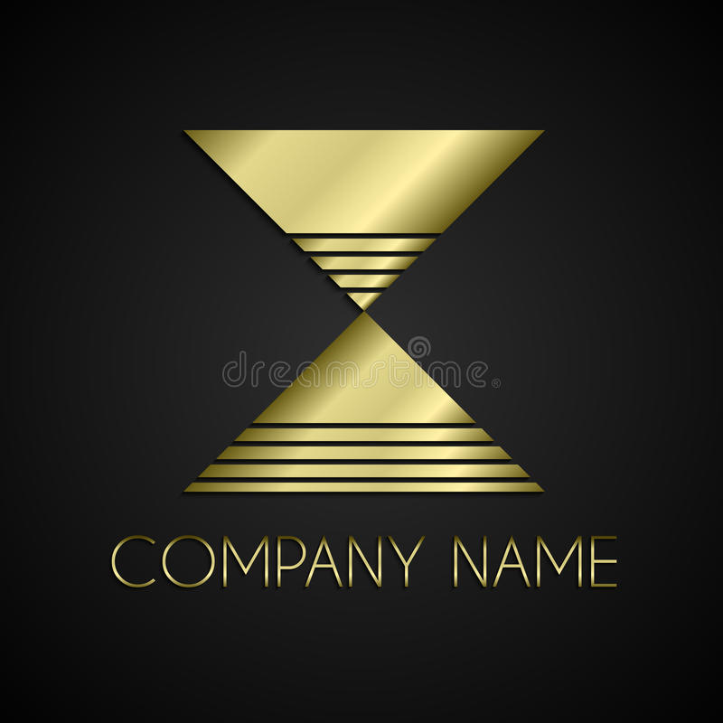 传染媒介抽象公司名称商标 库存例证