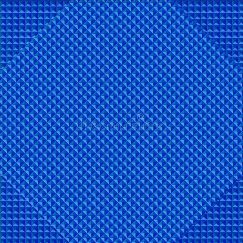 传染媒介抽象几何三角明亮的蓝色 库存例证