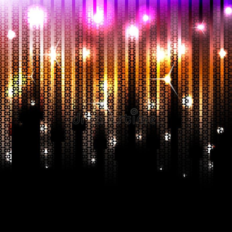 传染媒介抽象发光的迪斯科背景。Eps10 库存例证