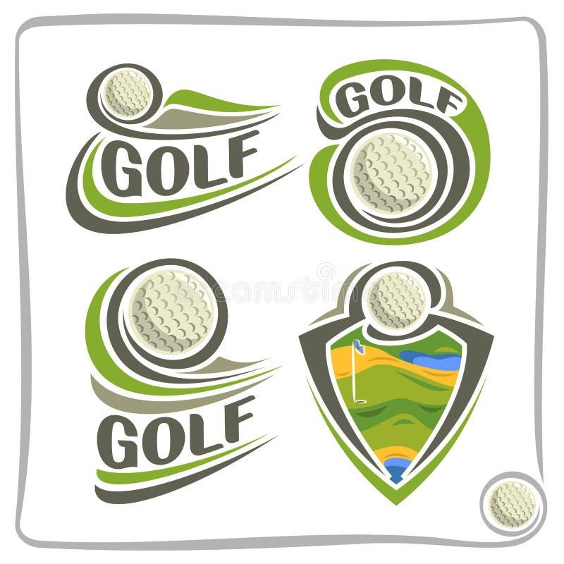 传染媒介抽象商标高尔夫球 皇族释放例证