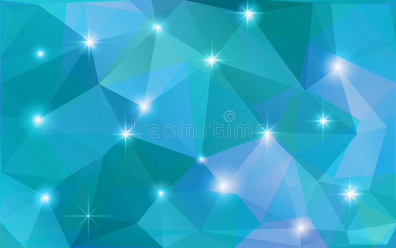 传染媒介抽象多角形背景 库存例证