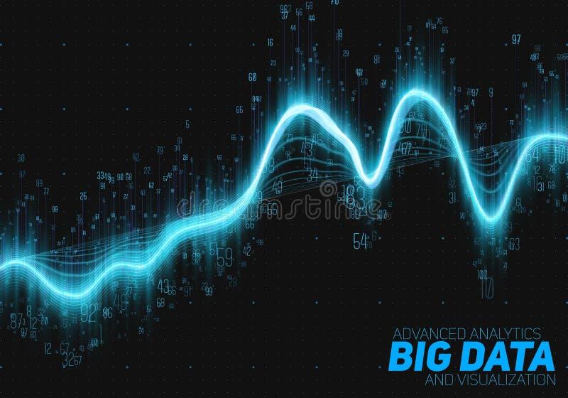 传染媒介抽象大数据形象化 未来派infographics审美设计 视觉信息复杂 向量例证