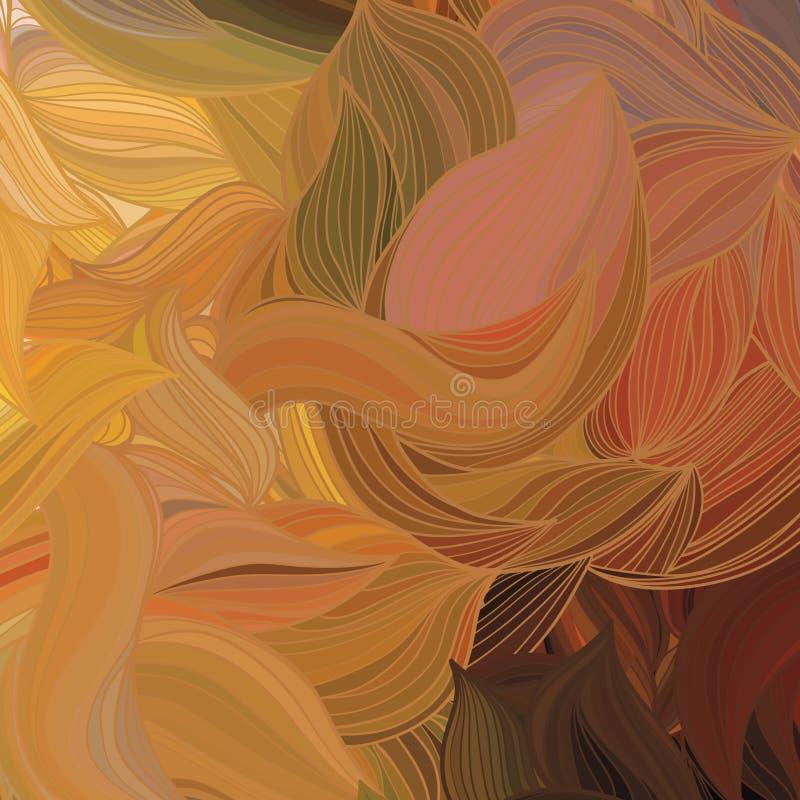 传染媒介抽象手拉的波动图式 库存图片