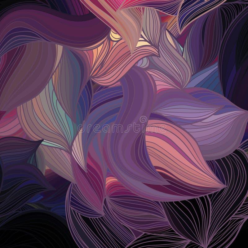 传染媒介抽象手拉的波动图式 图库摄影
