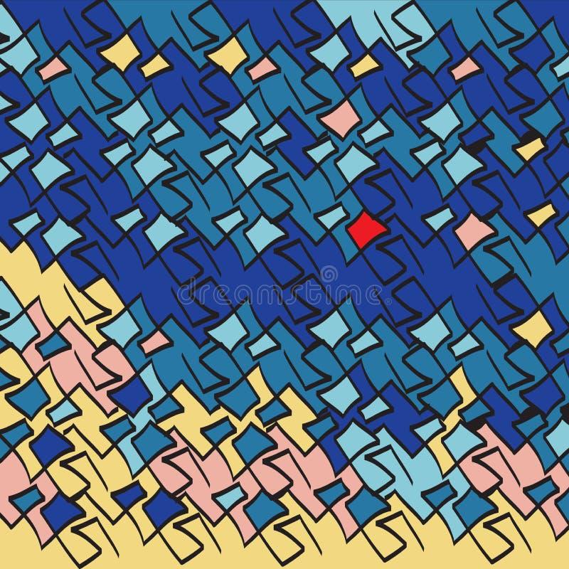 传染媒介抽象构思设计 时髦几何元素孟菲斯卡片 现代抽象设计海报,盖子,卡片设计 皇族释放例证