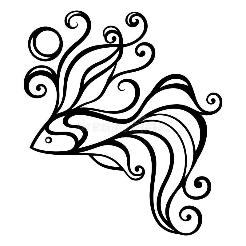 Download 传染媒介抽象海鱼 在白色背景的抽象对象 向量例证. 插画 包括有 逗人喜爱, 图标, 幻想, 单色, 徽标 - 72352506