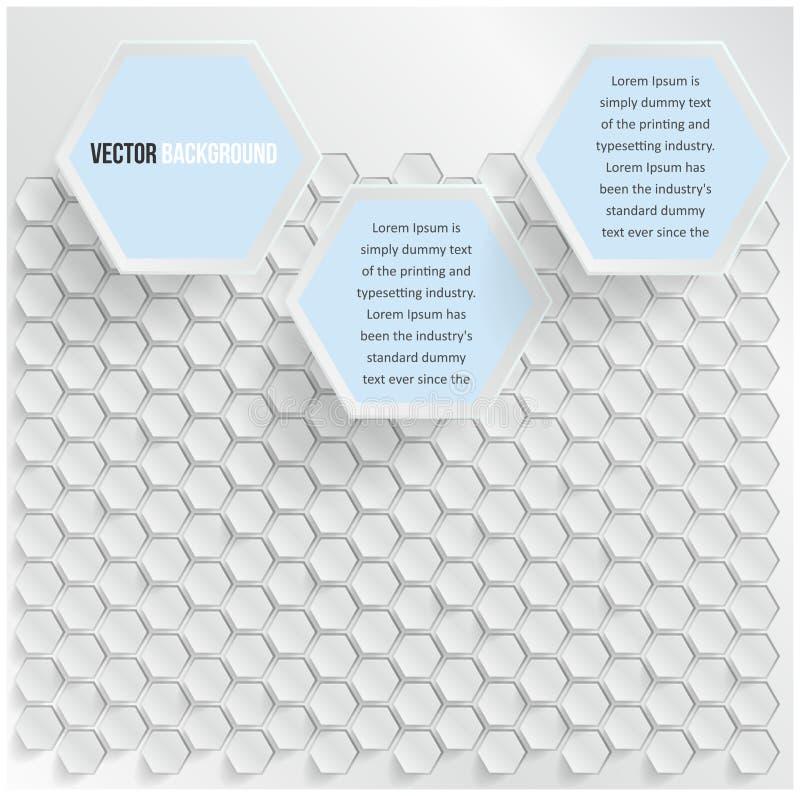 传染媒介抽象背景六角形。 网和设计 库存例证