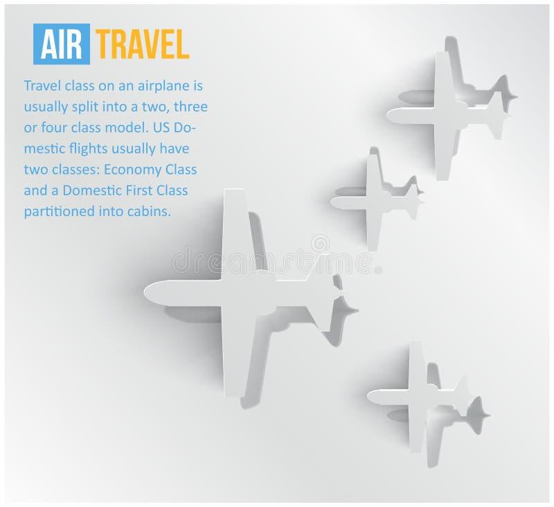 传染媒介抽象背景航空旅行。 网 库存例证