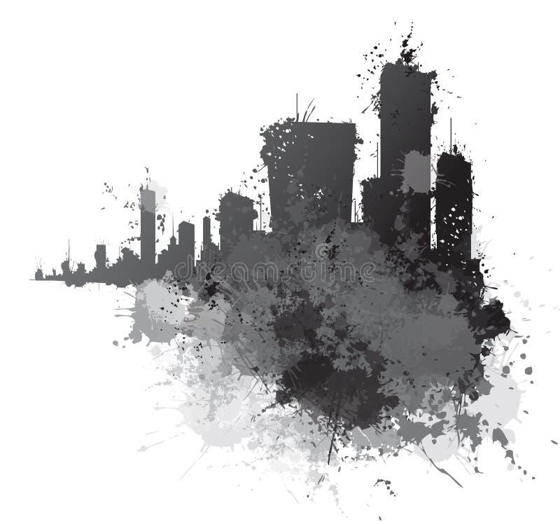 传染媒介抽象都市风景 皇族释放例证
