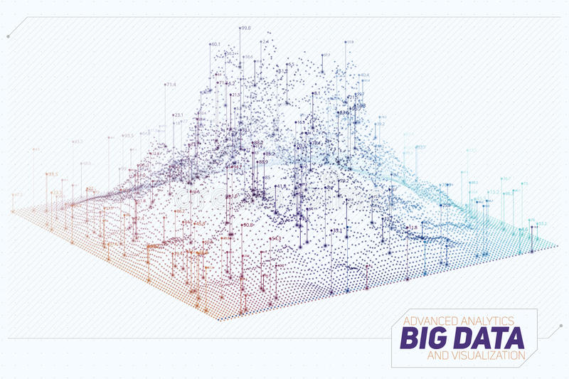 传染媒介抽象3D大数据形象化 未来派infographics审美设计 视觉信息复杂 库存例证