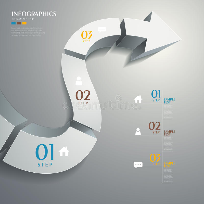 传染媒介抽象3d路infographics 皇族释放例证