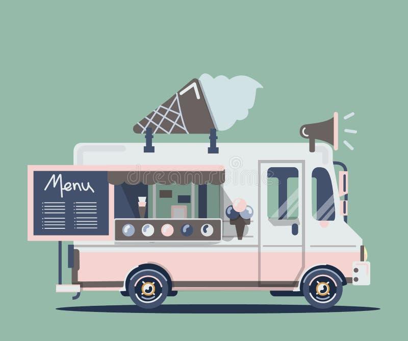 传染媒介搬运车冰淇凌 库存照片
