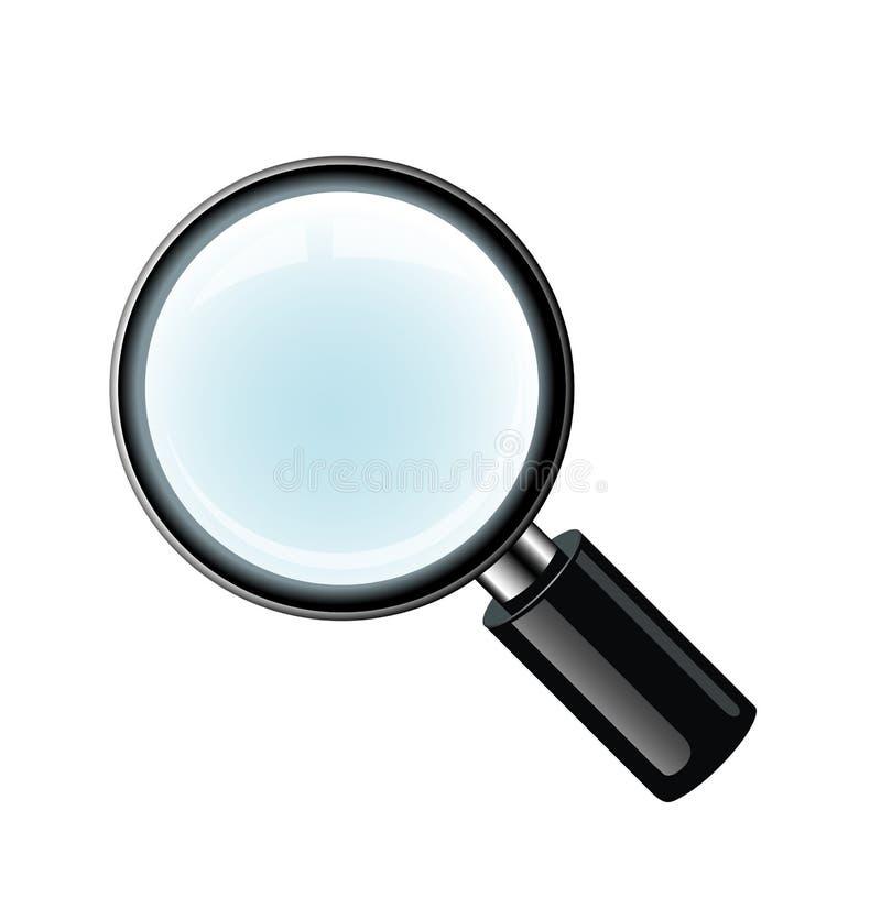 传染媒介放大镜 库存例证
