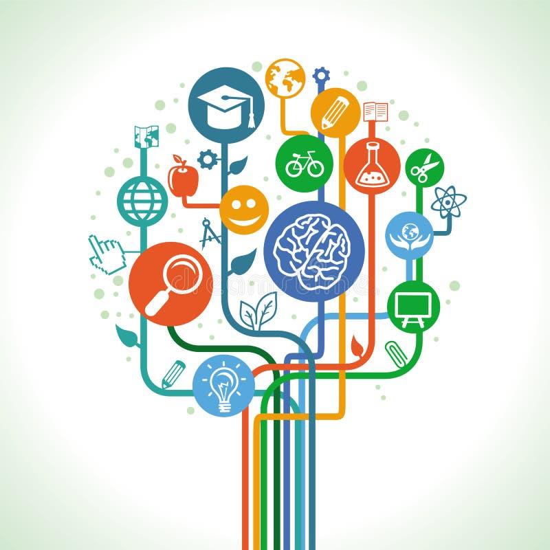 传染媒介教育和科学概念 向量例证