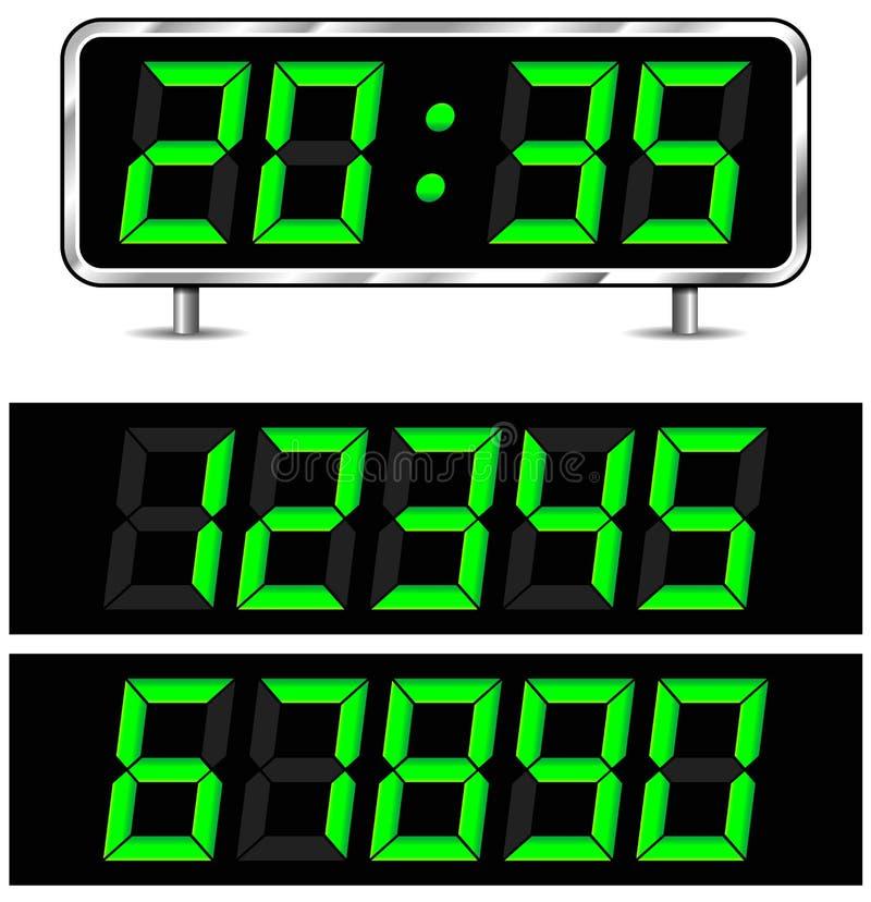传染媒介数字钟 向量例证