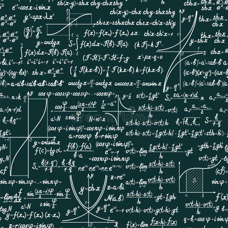传染媒介数学无缝的样式 皇族释放例证