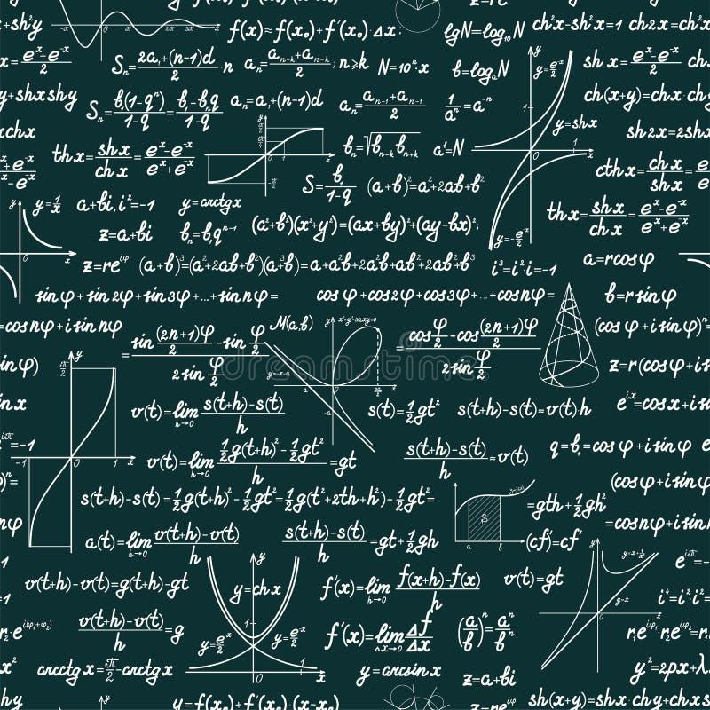 传染媒介数学无缝的样式 库存例证