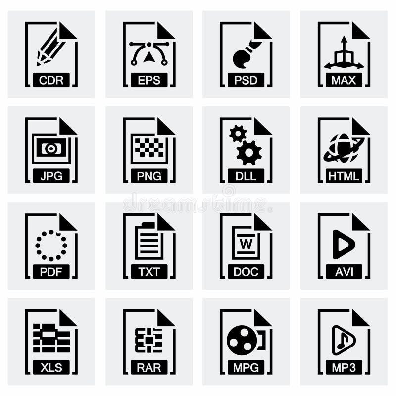 传染媒介文件类型象集合 库存例证