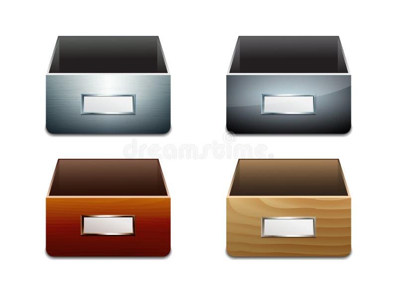 传染媒介文件的文件柜 向量例证