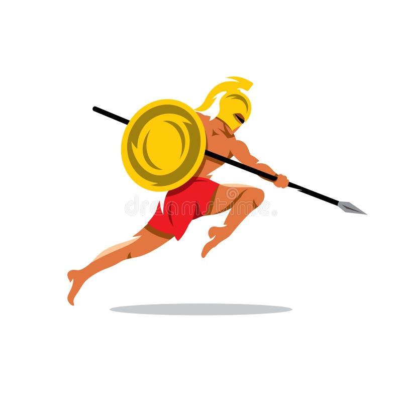 Download 传染媒介斯巴达战士动画片例证 向量例证. 插画 包括有 镇痛药, 红色, 军事, 战士, 例证, 被照顾的 - 72357626