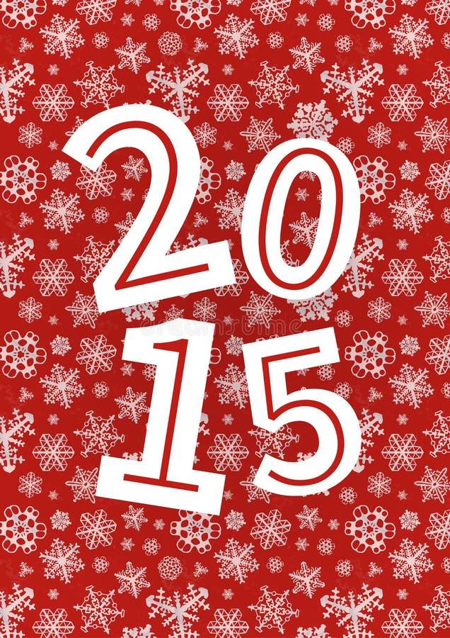 传染媒介2015年新年快乐背景与 皇族释放例证