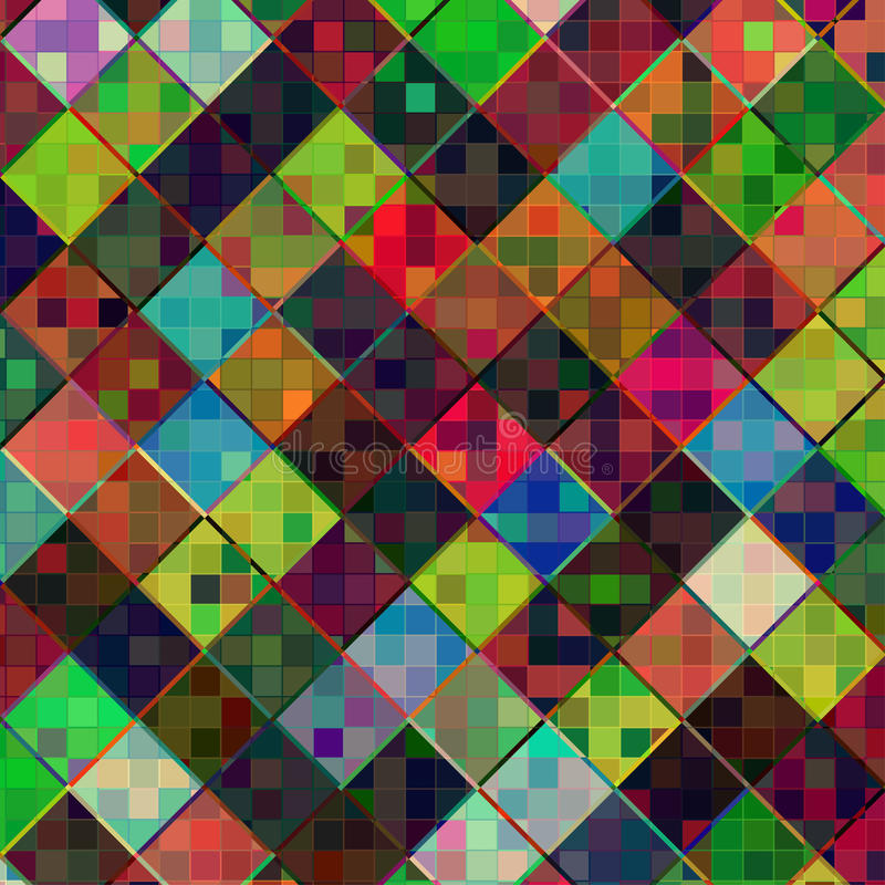 传染媒介方形的多色马赛克背景 向量例证