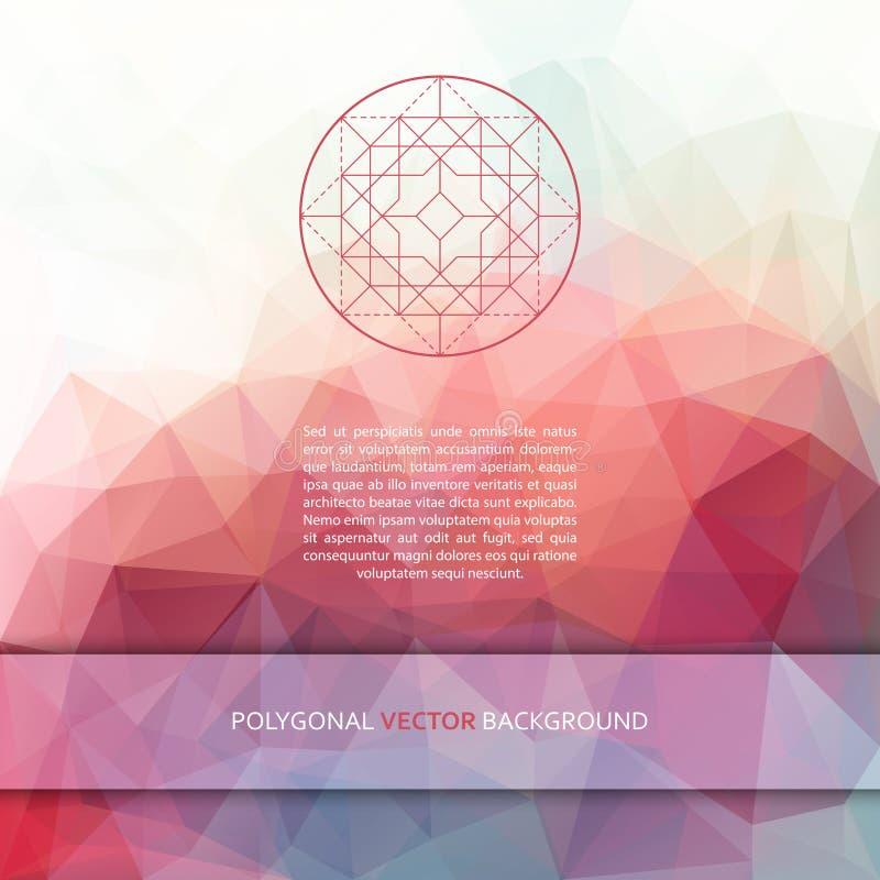 传染媒介方形的多角形背景 库存例证