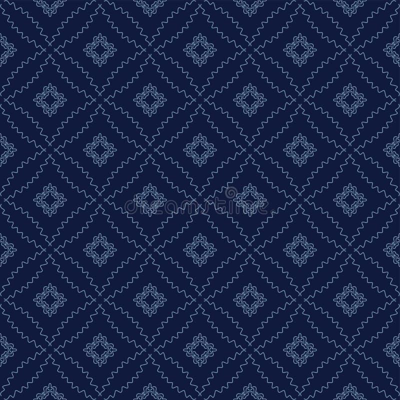传染媒介无缝的几何样式 免版税库存照片