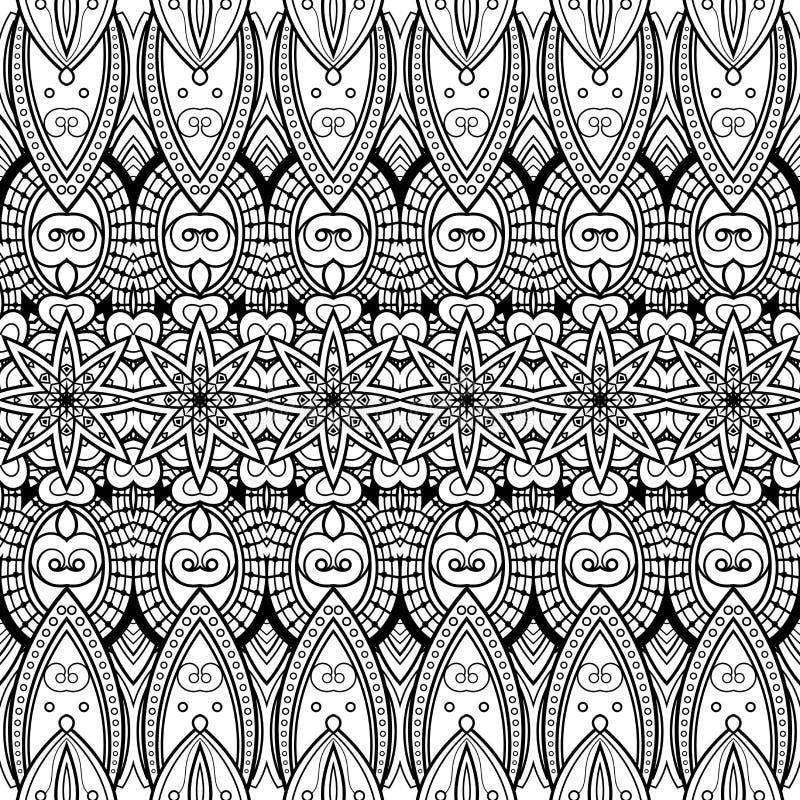 传染媒介无缝的单色锦缎样式 向量例证