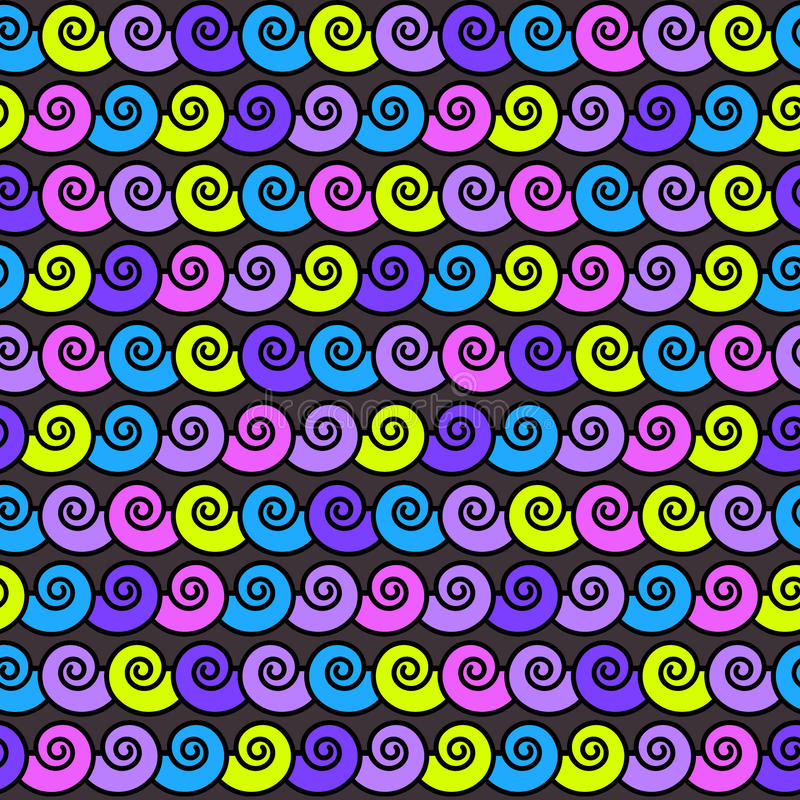 传染媒介无缝的抽象样式,波浪 向量例证