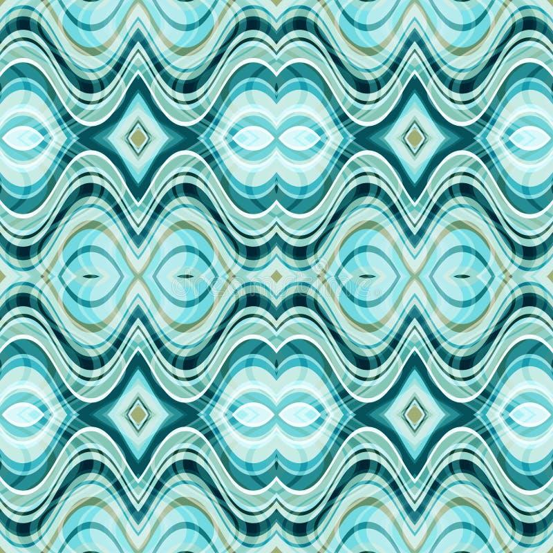 传染媒介无缝的抽象波浪背景 库存例证