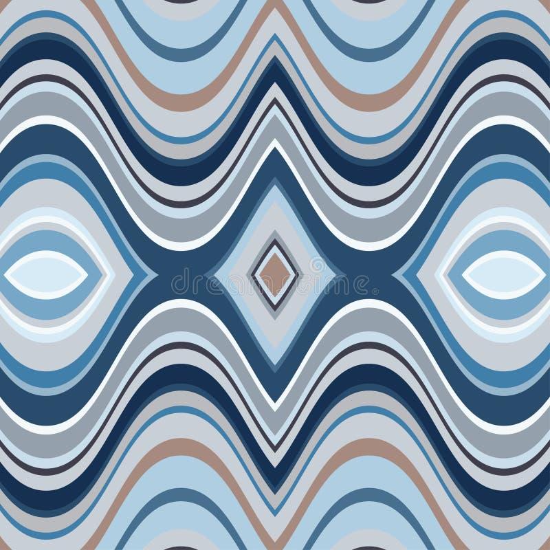 传染媒介无缝的抽象波浪背景 皇族释放例证