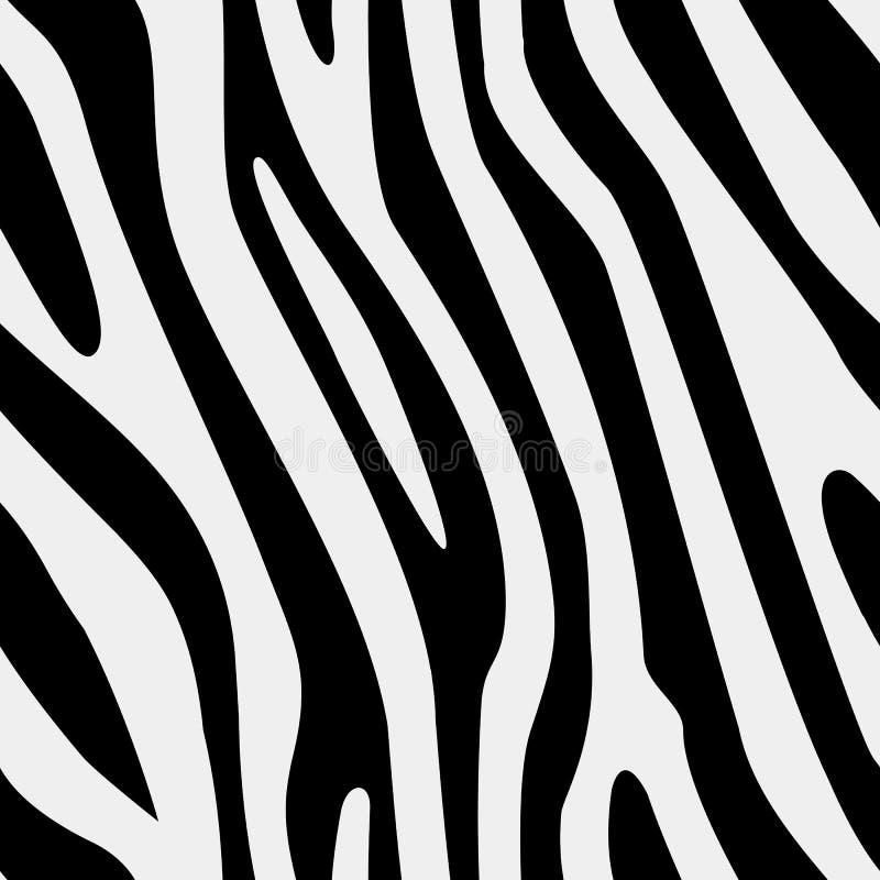 传染媒介无缝的斑马纹理 图库摄影