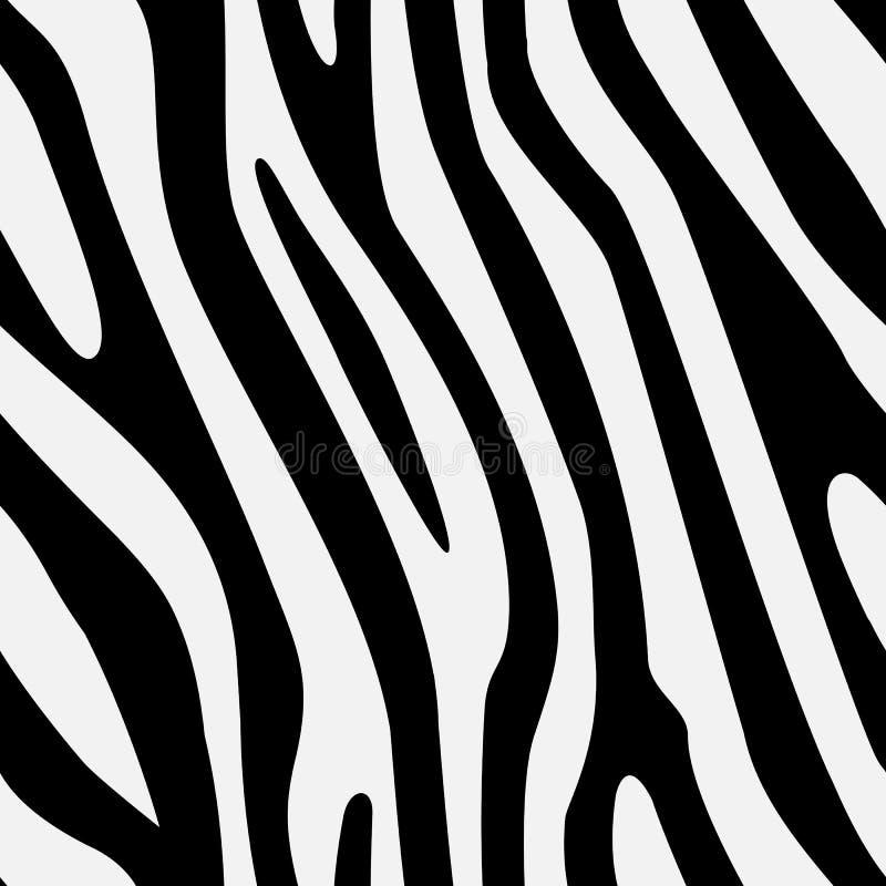 传染媒介无缝的斑马纹理 免版税库存图片