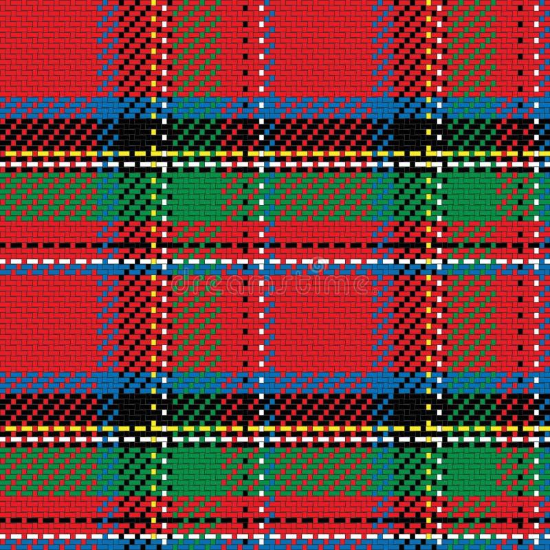 传染媒介无缝的样式苏格兰格子呢皇家斯图尔特 皇族释放例证