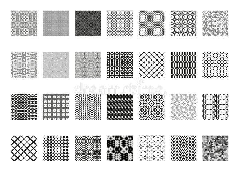传染媒介无缝的样式集合,汇集,墙纸的,样式积土,网页背景,表面纹理不尽的纹理 向量例证