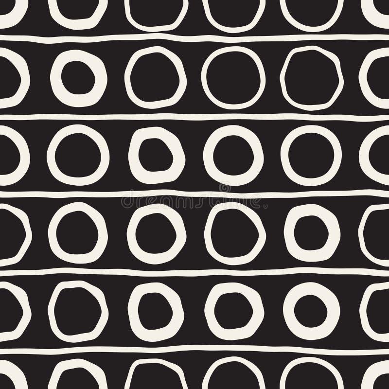 传染媒介无缝的纯稚样式 单色手拉的几何形状纹理 皇族释放例证