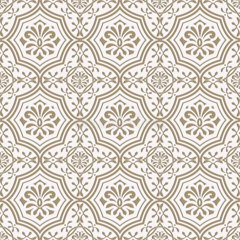 传染媒介无缝的纸削减了花卉样式,印地安样式 皇族释放例证