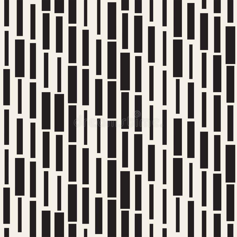 传染媒介无缝的黑白不规则的破折号长方形网格图形 抽象几何背景设计.图片