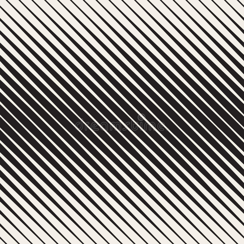 传染媒介无缝的黑白半音对角条纹样式 库存例证