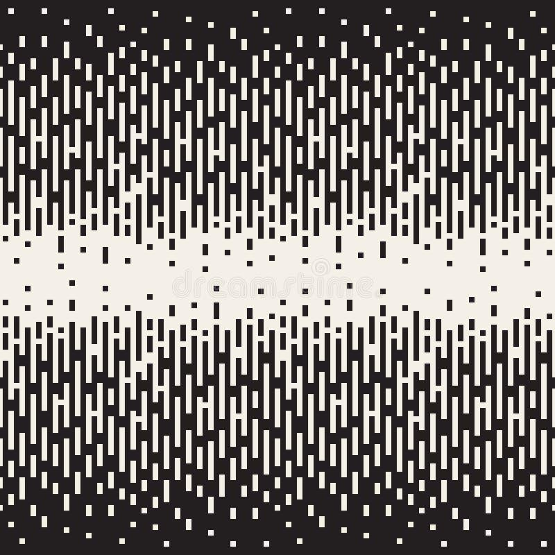 传染媒介无缝的黑白映象点梯度半音几何样式 皇族释放例证