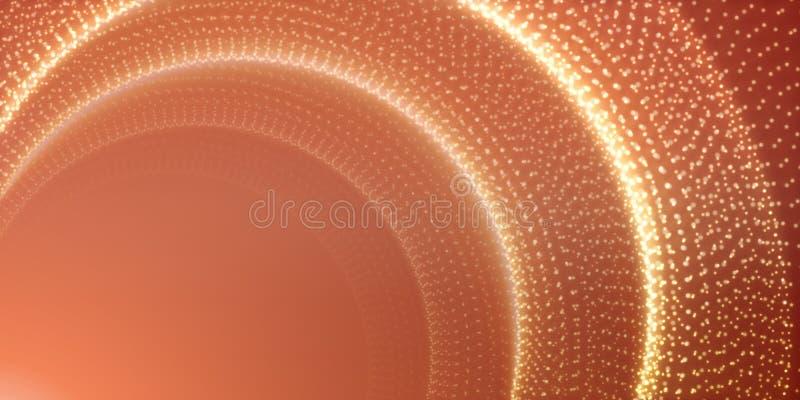 传染媒介无边无际的空间背景 隧道发光担任主角与深度和透视幻觉  库存例证