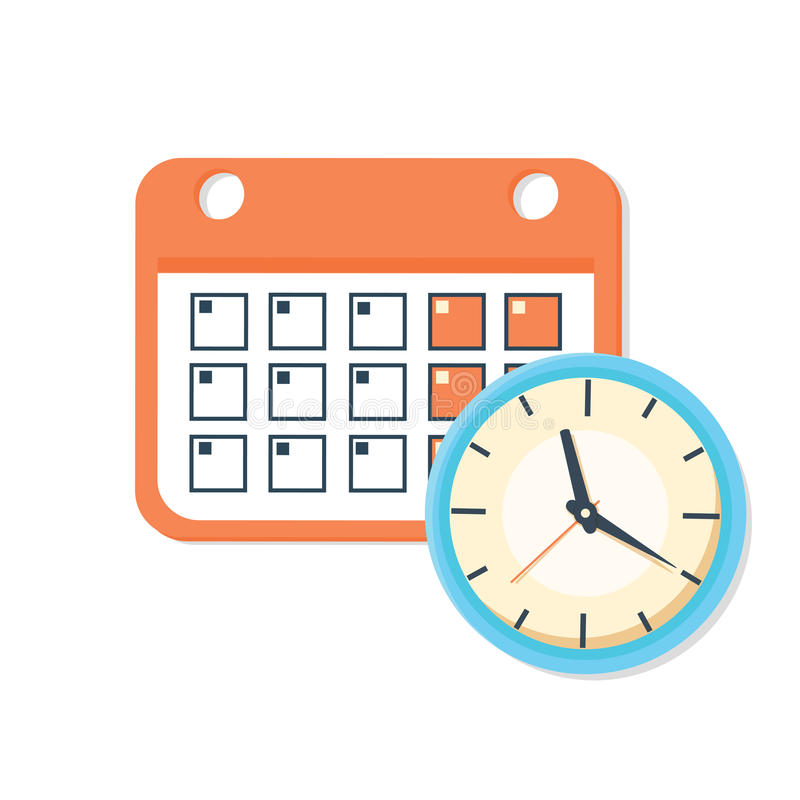 传染媒介日历和时钟象 日程表,任命,重要日期概念 皇族释放例证