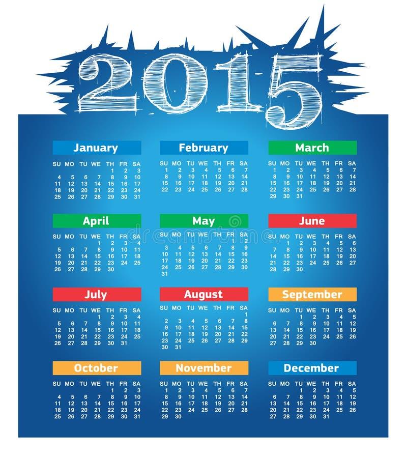 2015年传染媒介日历 向量例证