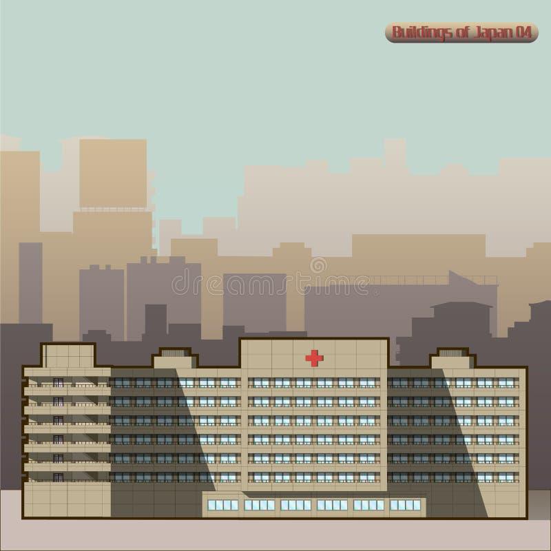 传染媒介日本大厦在东京 库存照片