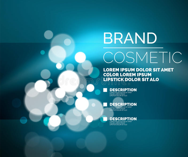 传染媒介普遍迷人的化妆空白的广告模板 皇族释放例证