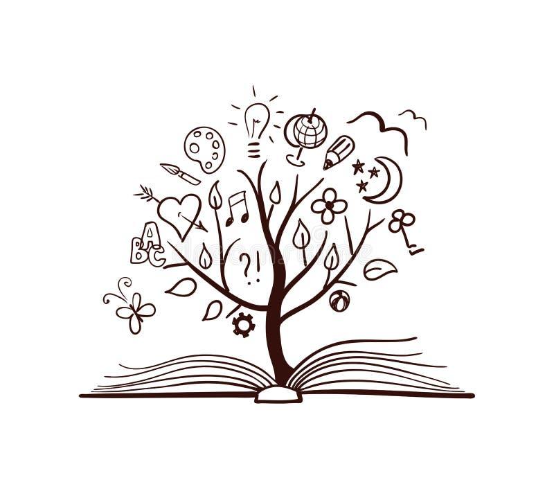 传染媒介智慧树 向量例证